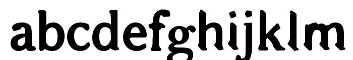 Bajsmaskin tjock sprutande Font LOWERCASE