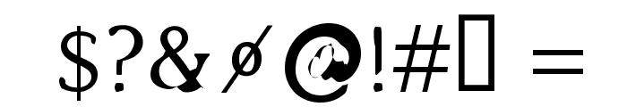 Bajsmaskin Font OTHER CHARS