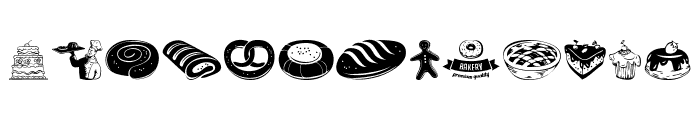 Bakery Font LOWERCASE