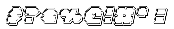 Bal-Astaral Engraved Italic Font OTHER CHARS