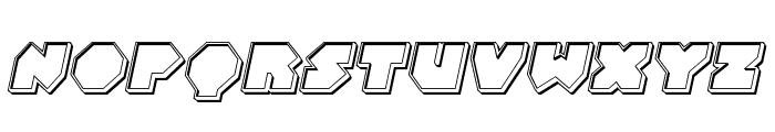 Bal-Astaral Engraved Italic Font UPPERCASE