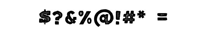 Balatype Grunge Font OTHER CHARS