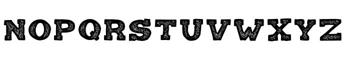 Balatype Grunge Font UPPERCASE