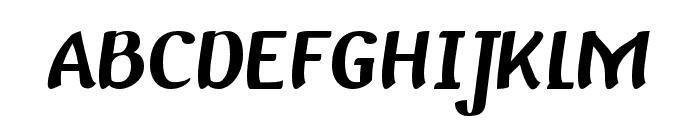 Baldo-Italic Font UPPERCASE