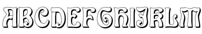 Baldur Shadow Font UPPERCASE