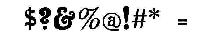 Baldur Font OTHER CHARS