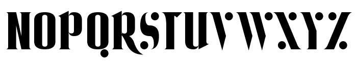 Ball Bearing Font UPPERCASE