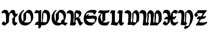 Ballade UNZ1 Bold Font UPPERCASE
