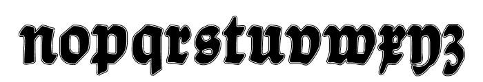 BalladeContour Font LOWERCASE