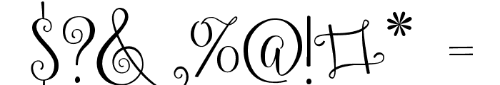 Ballerina Script Font OTHER CHARS
