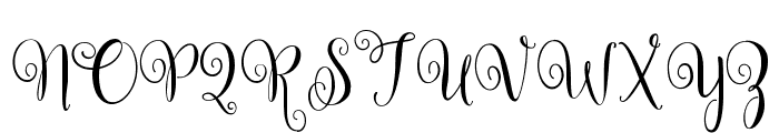 Ballerina Script Font UPPERCASE