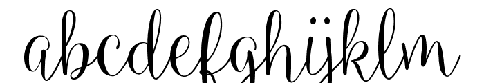 Ballerina Script Font LOWERCASE