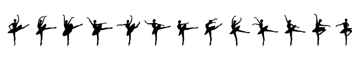 Ballet Font UPPERCASE