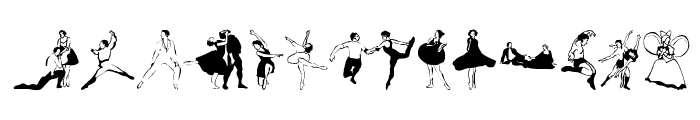 BalletSketches Font LOWERCASE