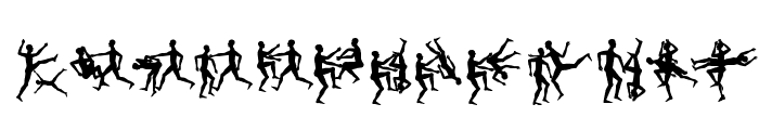BalletliAbsurdo Font LOWERCASE