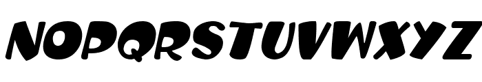 Balloon Craft Italic Font UPPERCASE