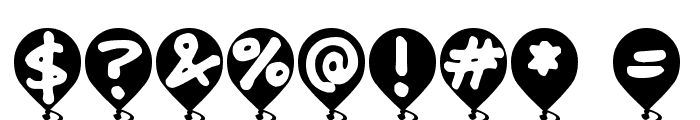 Balloon Floats Font OTHER CHARS