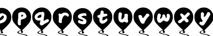 Balloon Floats Font UPPERCASE