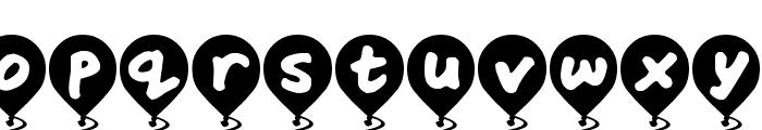 Balloon Floats Font LOWERCASE