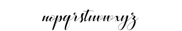 BallqisScript Font LOWERCASE