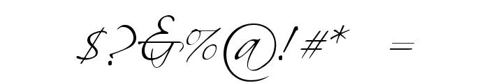 BallroomWaltz Font OTHER CHARS