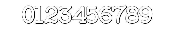 BaltimoreTypewriterBold Beveled Font OTHER CHARS