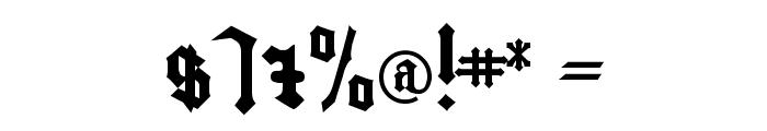 Bamberg Plain Font OTHER CHARS