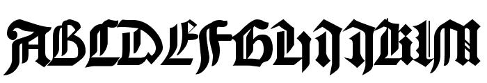Bamberg Plain Font UPPERCASE