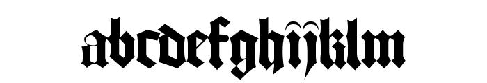 Bamberg Plain Font LOWERCASE