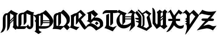 Bamberg Font UPPERCASE