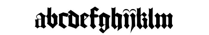 Bamberg Font LOWERCASE