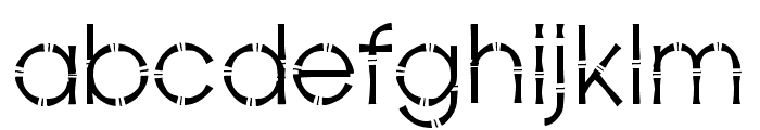 Bamboo Gothic Book Font LOWERCASE