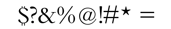 Bamboo Font OTHER CHARS