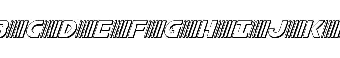 Bamf 3D Italic Font UPPERCASE