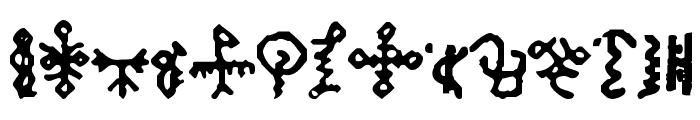Bamum Symbols 1 Font LOWERCASE