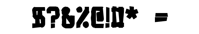 Bandwidth Bandmess BRK Font OTHER CHARS
