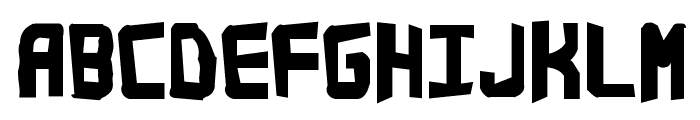 Bandwidth Bandmess BRK Font UPPERCASE