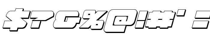 Banjin 3D Italic Font OTHER CHARS
