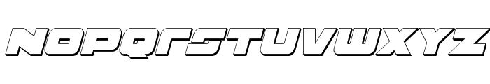 Banjin 3D Italic Font UPPERCASE
