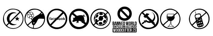 Banned World Font OTHER CHARS