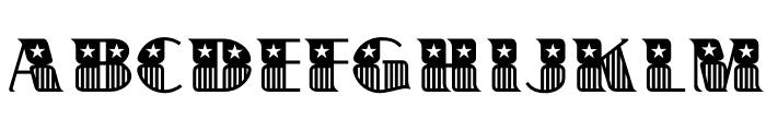 BannerStar Font UPPERCASE