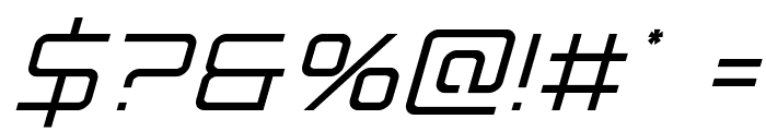 Banshee Pilot Condensed Italic Font OTHER CHARS