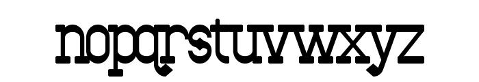 Bantorain Bold Font LOWERCASE