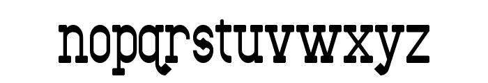 Bantorain Font LOWERCASE
