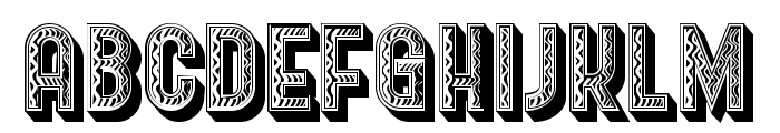 Baraka Regular Font UPPERCASE