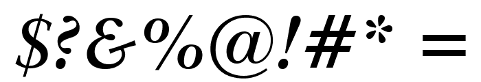 Baramond Bold Italic Font OTHER CHARS