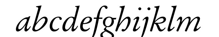 Baramond Italic Font LOWERCASE