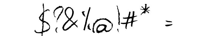 Barbarjowe Pisanie Font OTHER CHARS