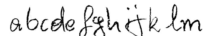 Barbarjowe Pisanie Font LOWERCASE