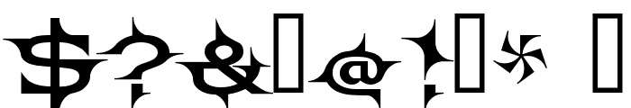 Barbecue Font OTHER CHARS